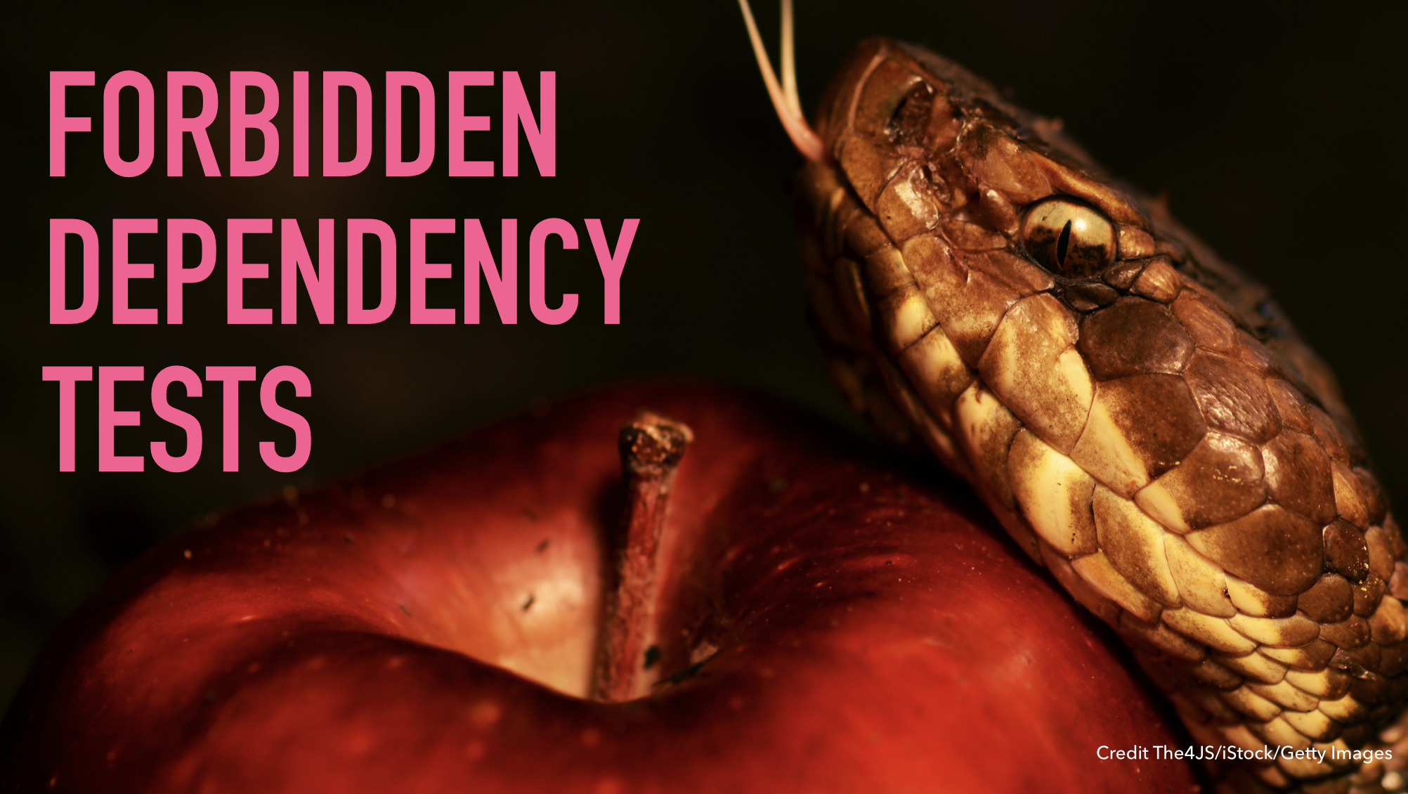 Slide text: Forbidden dependency tests.