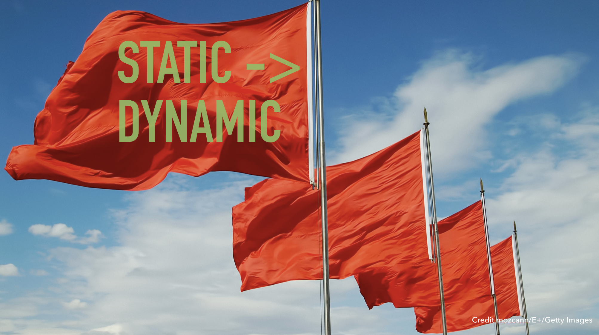 Slide text: Static - /> Dynanic